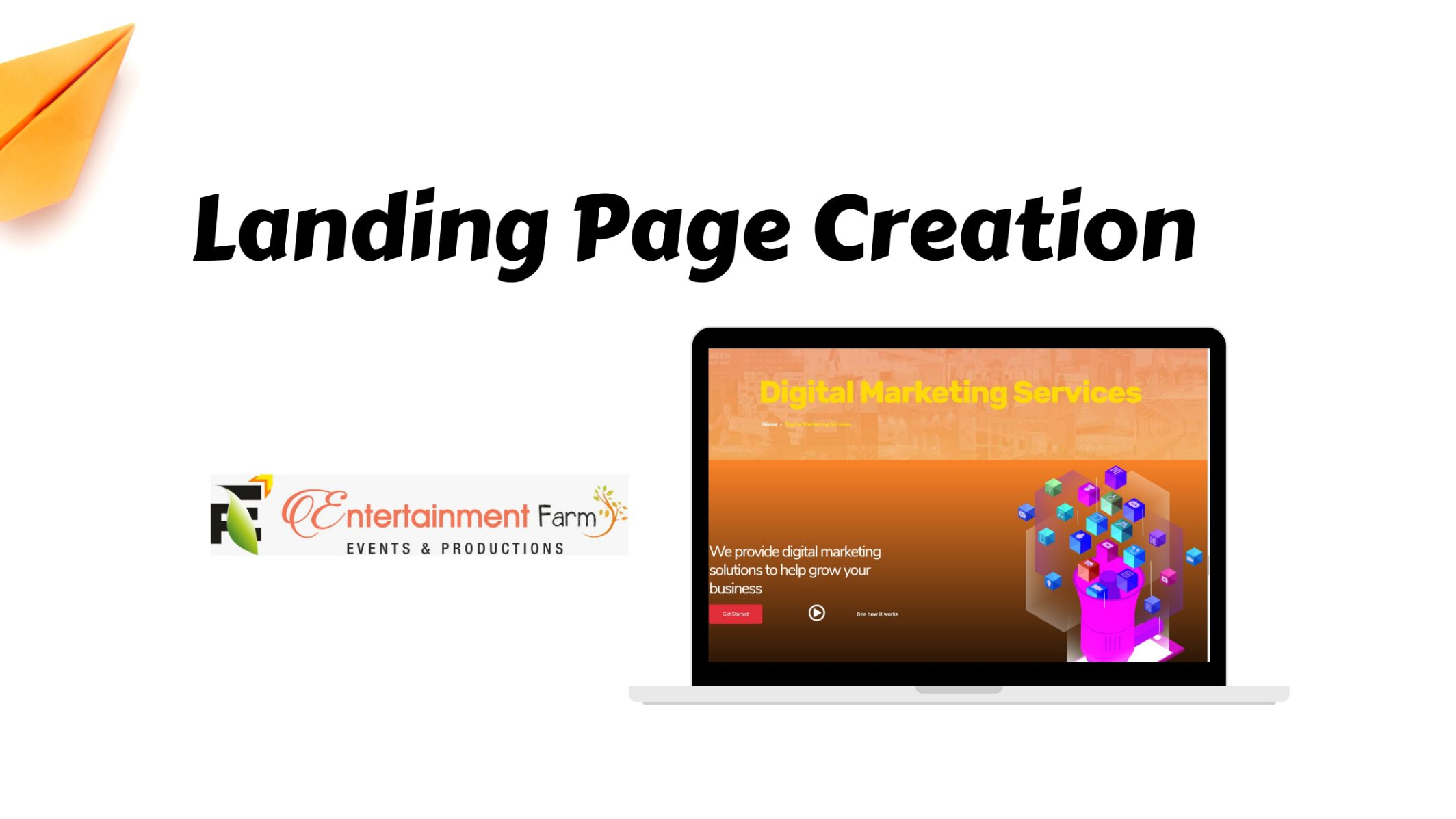 Landing Page Creation for Entertainment Firm