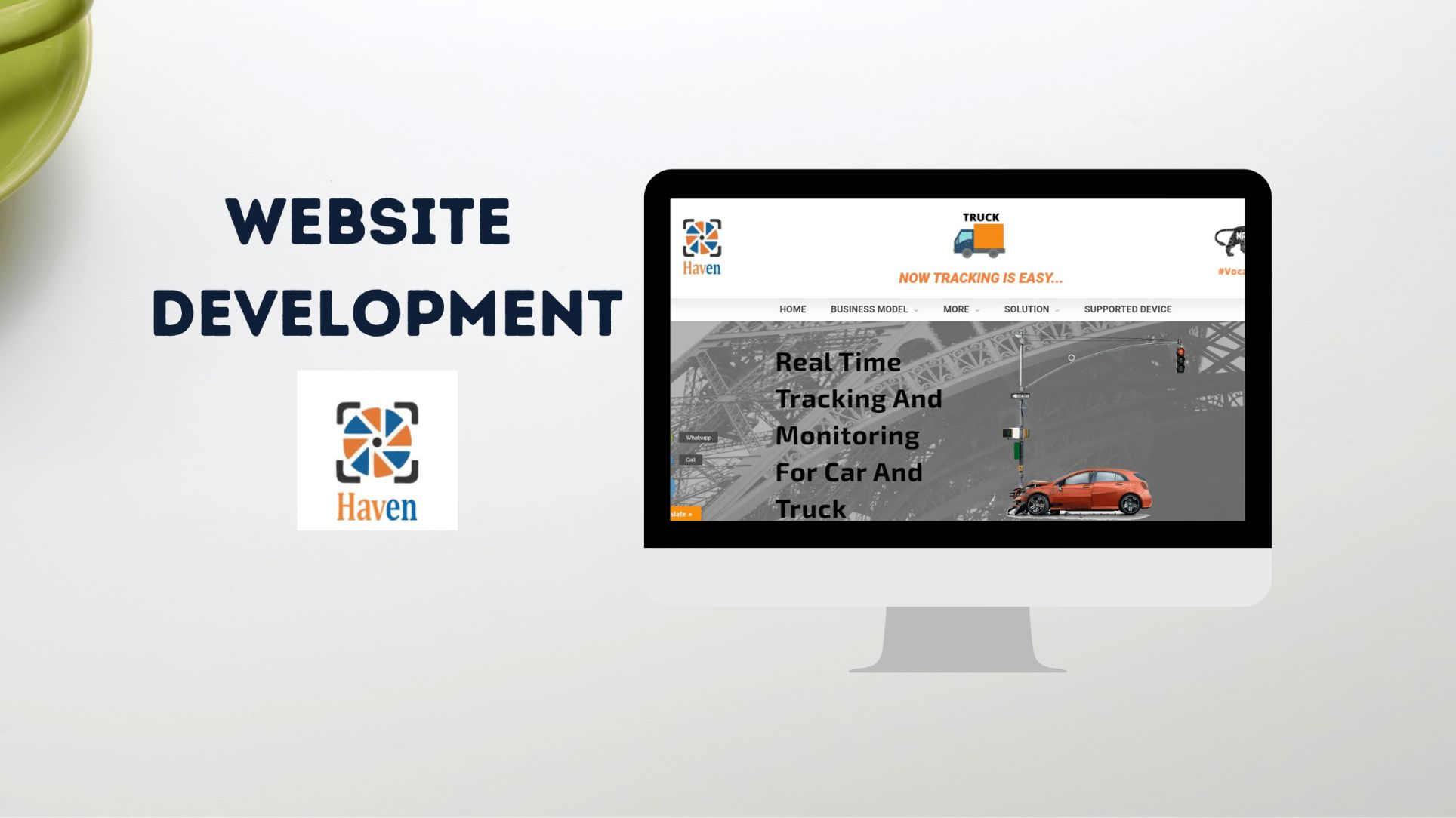 Haven GPS website development featured image