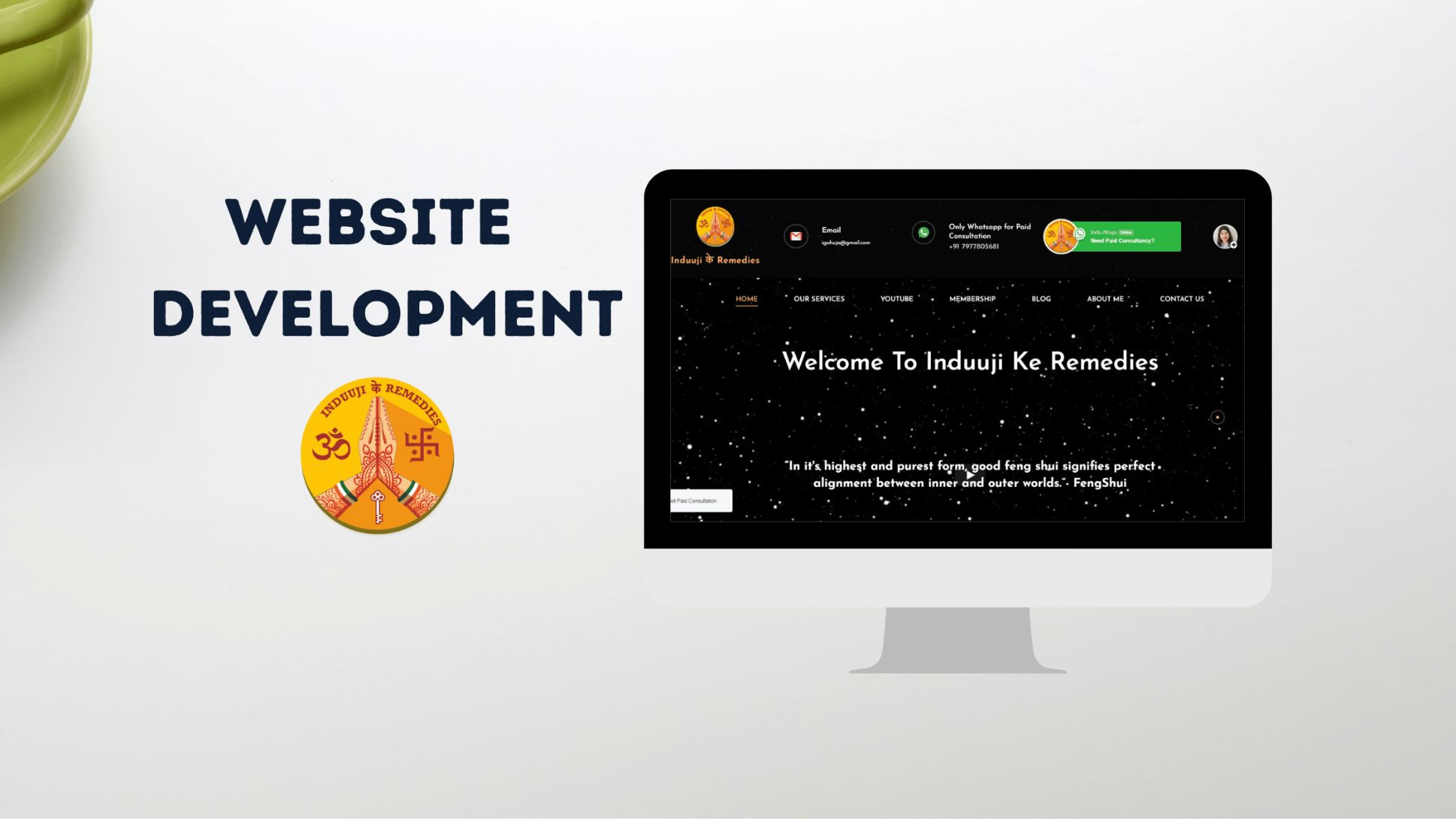 Induji Ke Remedies website development featured image